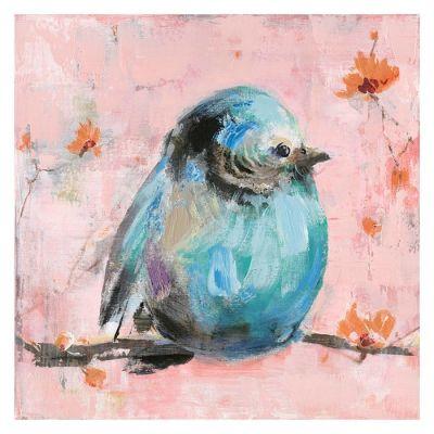 Serie ANIMALES | Cuadro gorrión azul (50 x 50 cm)