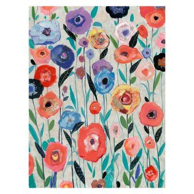 Serie ABSTRACTO | Cuadro flores multicolor (90 x 120 cm)