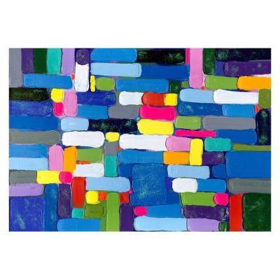 Serie ABSTRACTO | Cuadro abstracto pinceladas horizontales (200 x 140 cm)
