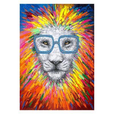 Serie ANIMALES | Cuadro abstracto león (140 x 200 cm)