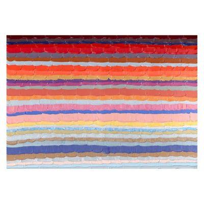 Serie ABSTRACTO | Cuadro abstracto líneas horizontales color (200 x 140 cm)