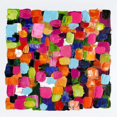 Tableau abstrait couleurs carreaux II (100 x 100 cm) | Série Abstrait