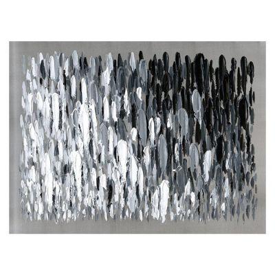 Serie ABSTRACTO | Cuadro abstracto pinceladas blanco y negro (120 x 90 cm)