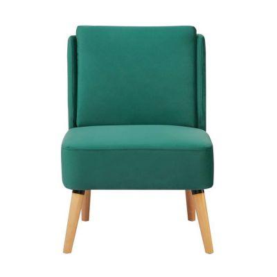 DOBRANT | Sillón tapizado verde (61 x 75 x 82 cm)