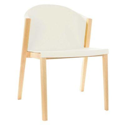 Chaise avec structure en bois de hêtre et polycarbonate (61 x 78,5 x 45 cm) | Série Juansan