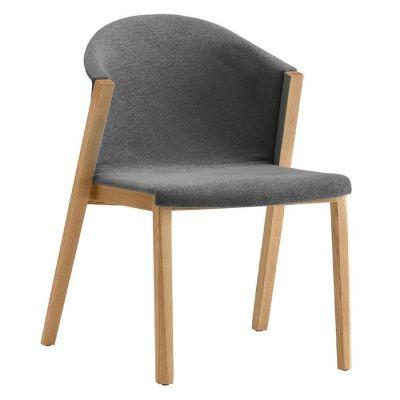 Chaise avec structure en bois de hêtre et revêtement (61 x 87,5 x 45 cm) | Série Juansan Linen