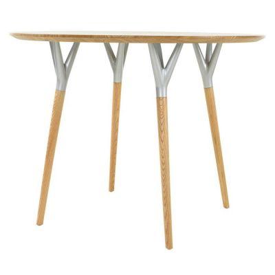 CRIJUAN | Mesa de comedor redonda. Madera de haya y metal (100 x 75 cm)