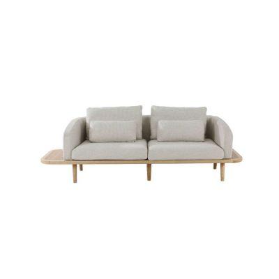 LEZQUER | Sofá con brazos y estructura de madera de fresno (249 x 80 x 75 cm)