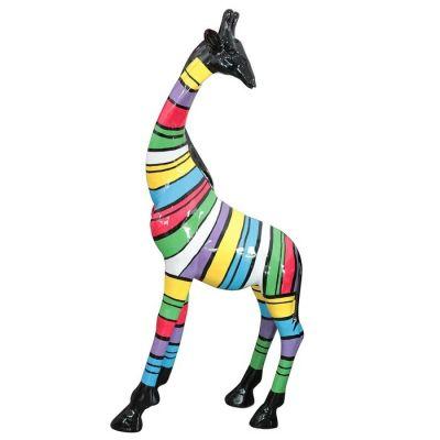 Serie ANIMALES XL | Jirafa con rayas multicolor