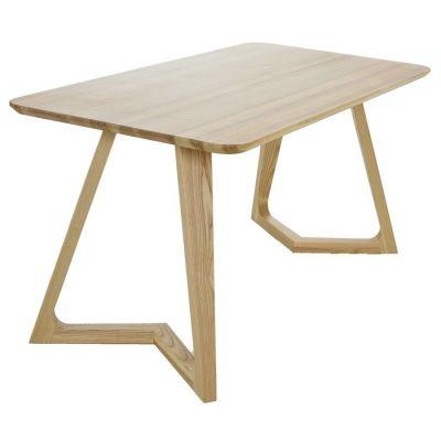 VICO | Mesa de comedor en madera de fresno natural (150 x 80 x 75 cm)