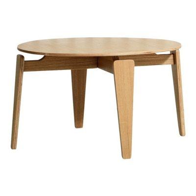 NICO | Mesa auxiliar en madera contrachapada (Ø 60 x 36,5 cm)