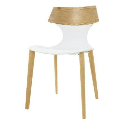 JANITZ | Silla de madera de fresno natural y policarbonato (49 x 49,5 x 79 cm)
