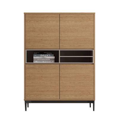 ONNIE Grey | Mueble aparador alto (103 x 40 x 144 cm)