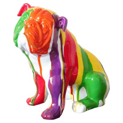 Serie ANIMALES XS | NUN Bulldog sentado multicolor