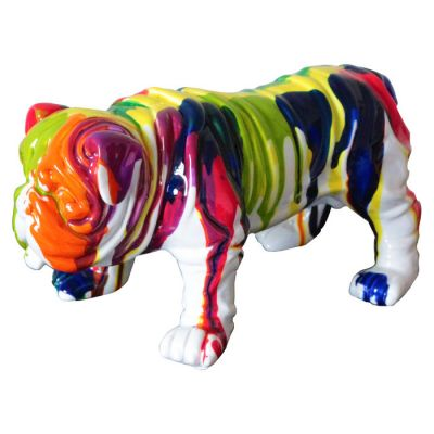 Serie ANIMALES XS | TROY Bulldog multicolor
