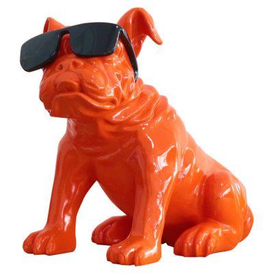 Serie ANIMALES M | KHAL Bulldog naranja sentado