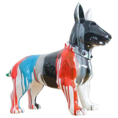 Serie ANIMALES M | SHAE Bull terrier multicolor