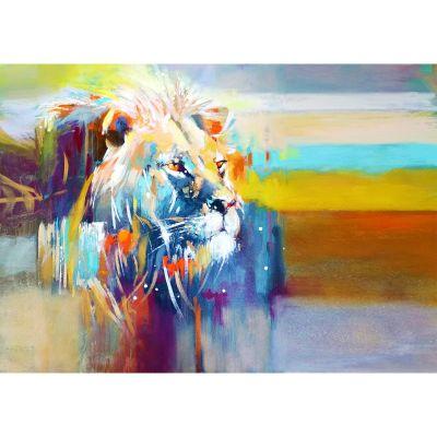 Serie ANIMALES | Cuadro León África (200 x 140 cm)