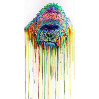 Serie ANIMALES | Cuadro gorila (200 x 100 cm)