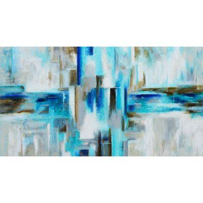 Serie ABSTRACTO | Cuadro abstracto azul (180 x 97 cm)